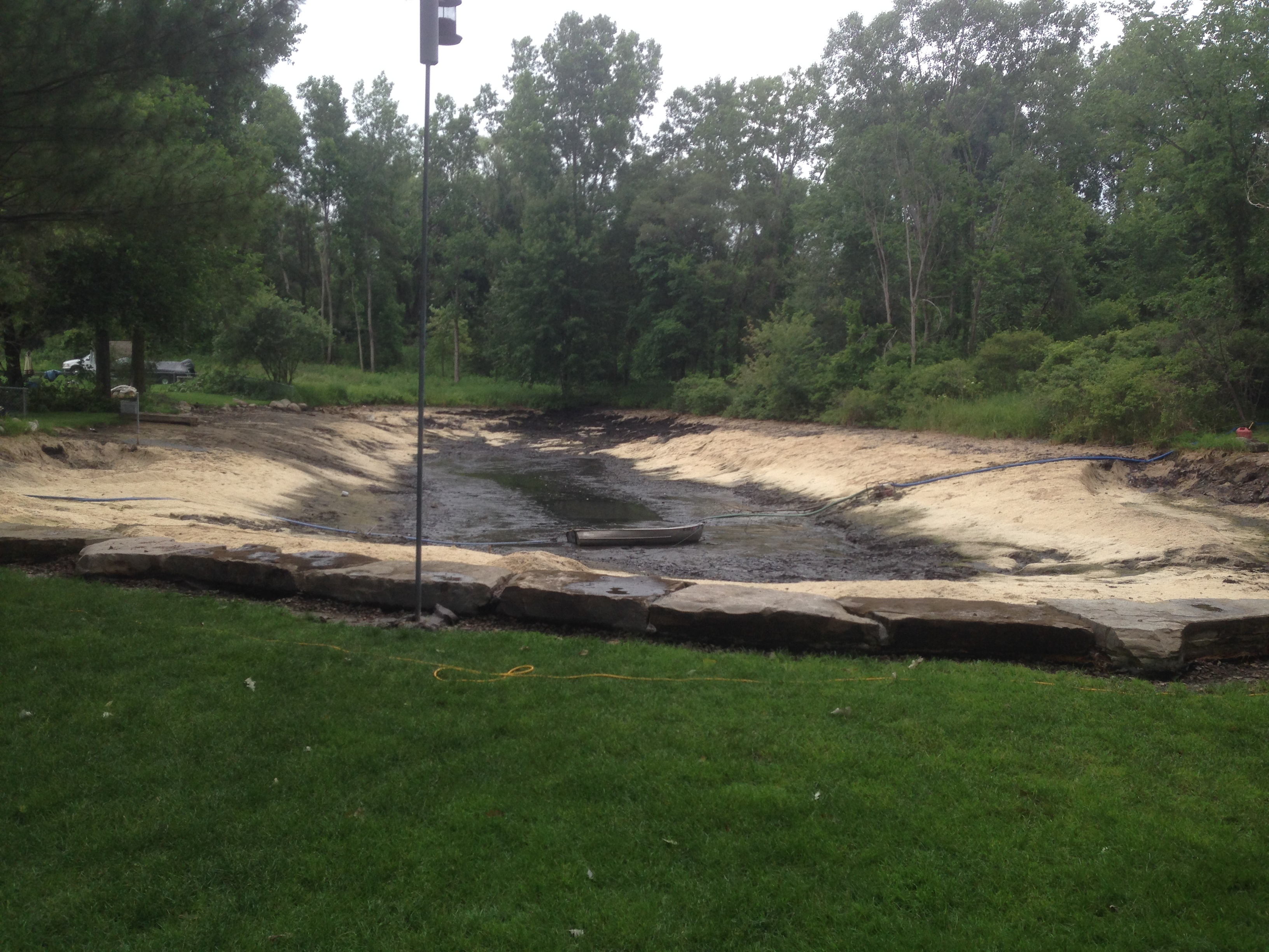 Hartland Michigan Long Reach Excavating Pond Restoration