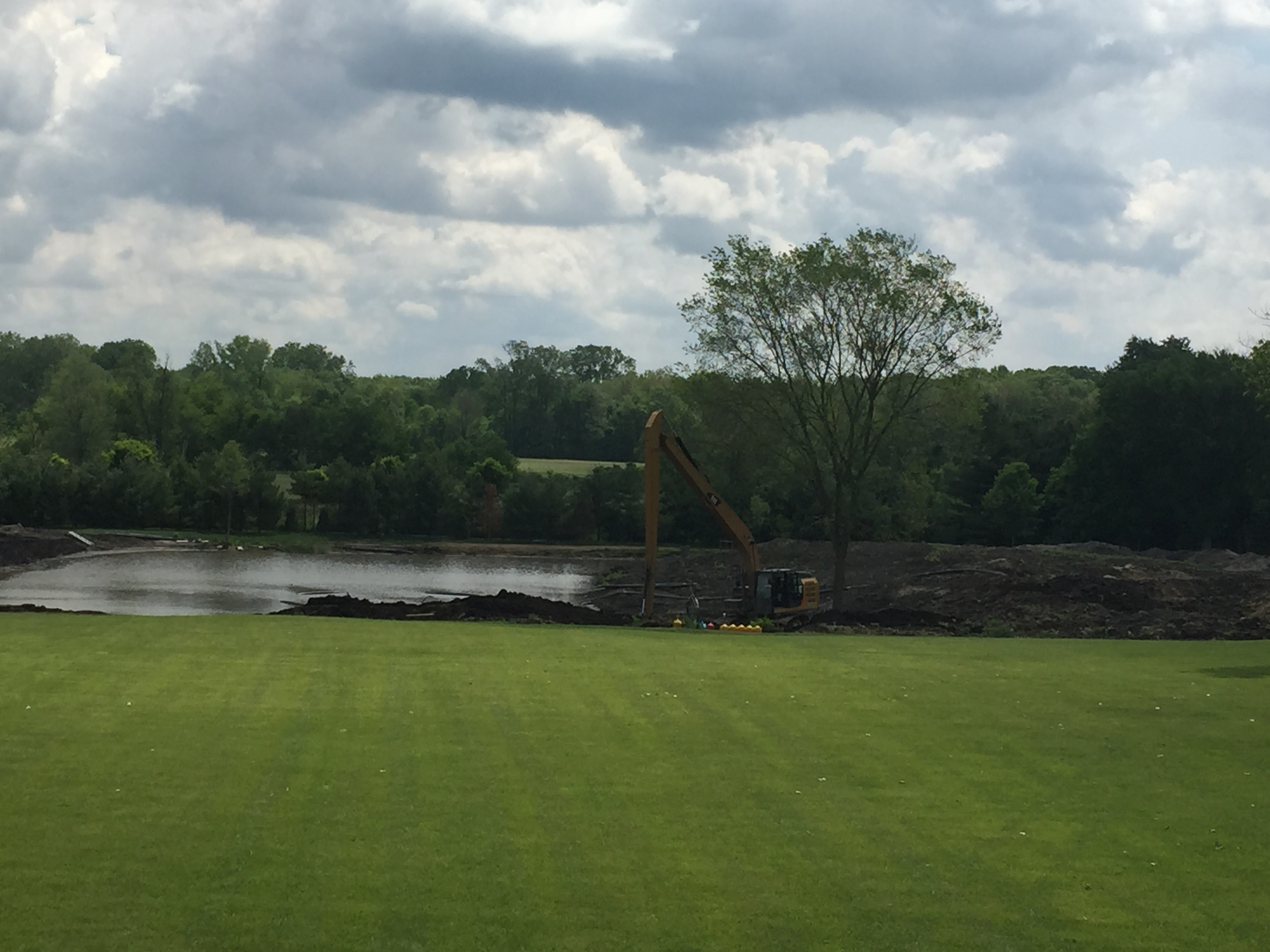 2 Acre Pond Construction : Fish pond excavation plymouth michigan