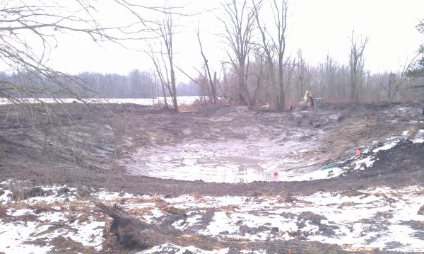 Perry, Michigan N DNR pond construction MDEQ fish pond Michigan (20) resized 600