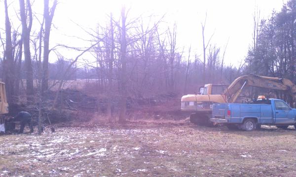 Perry, Michigan N DNR pond construction MDEQ fish pond Michigan (12) resized 600
