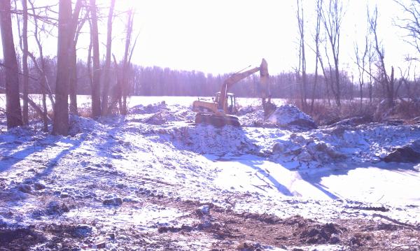 Perry, Michigan N DNR pond construction MDEQ fish pond Michigan (19) resized 600