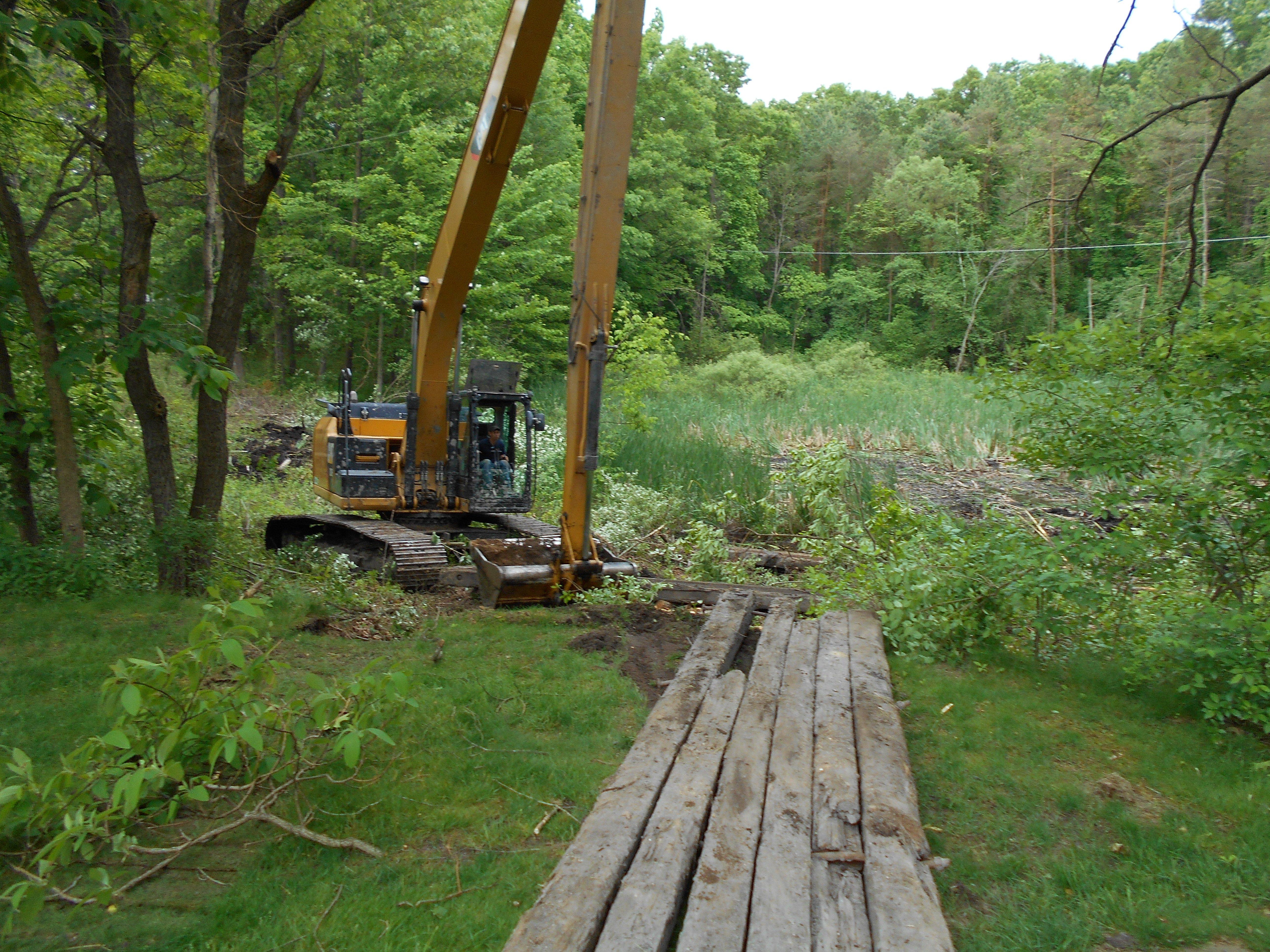 Ada, MI clean out swamp new pond (1) (N)