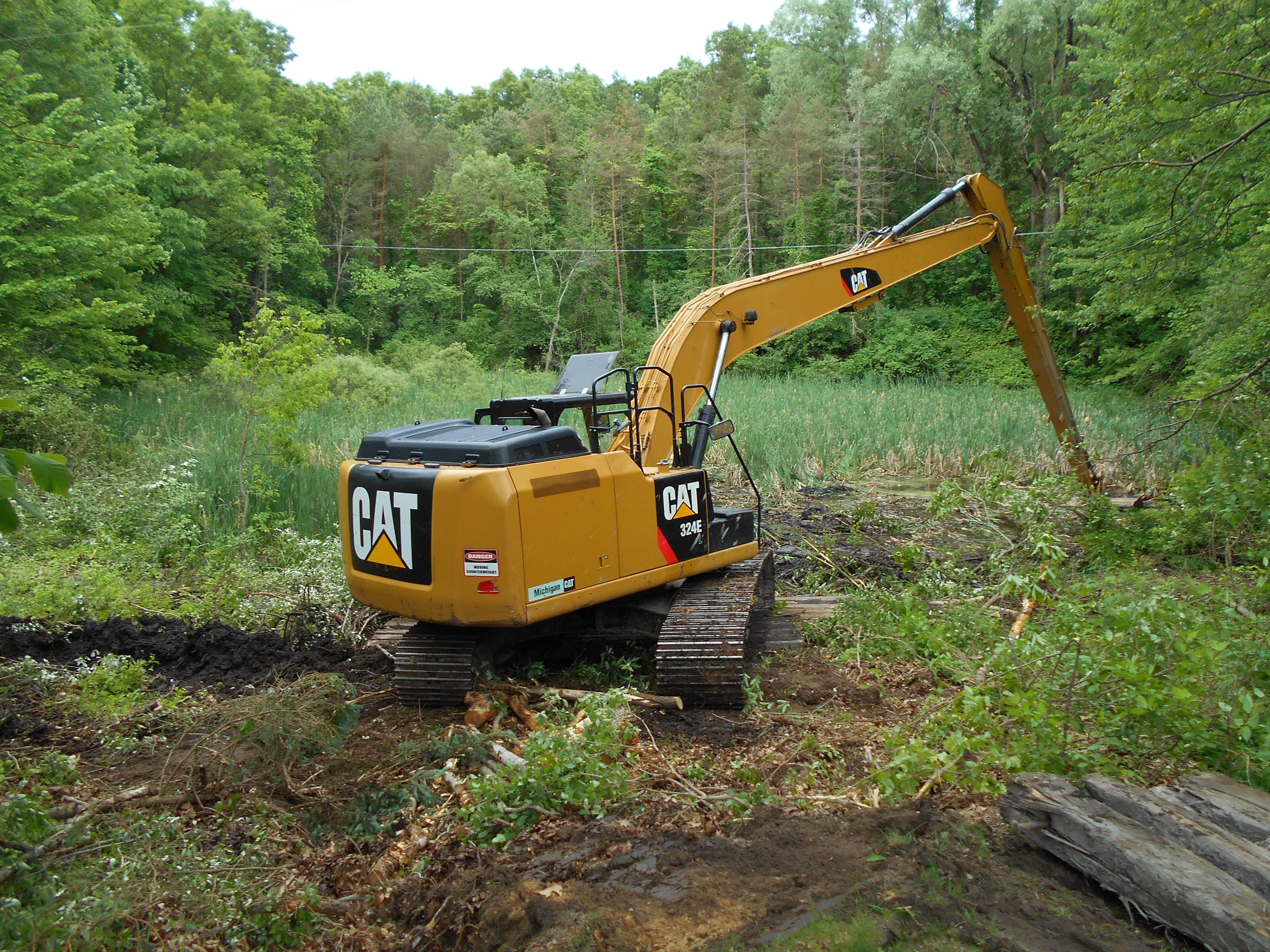 Ada, MI clean out swamp new pond (7) (N)