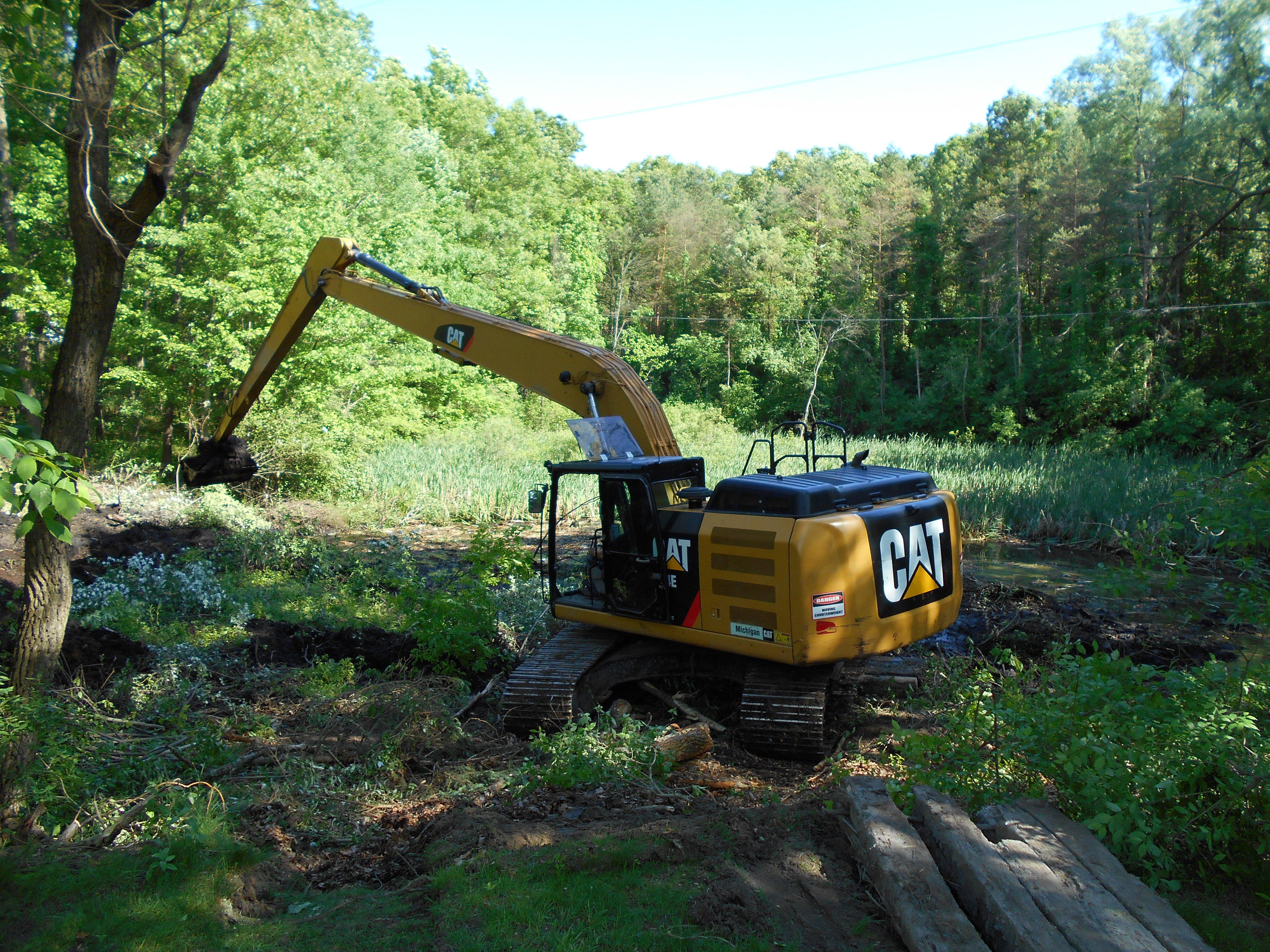 Ada, MI clean out swamp new pond (8) (N)