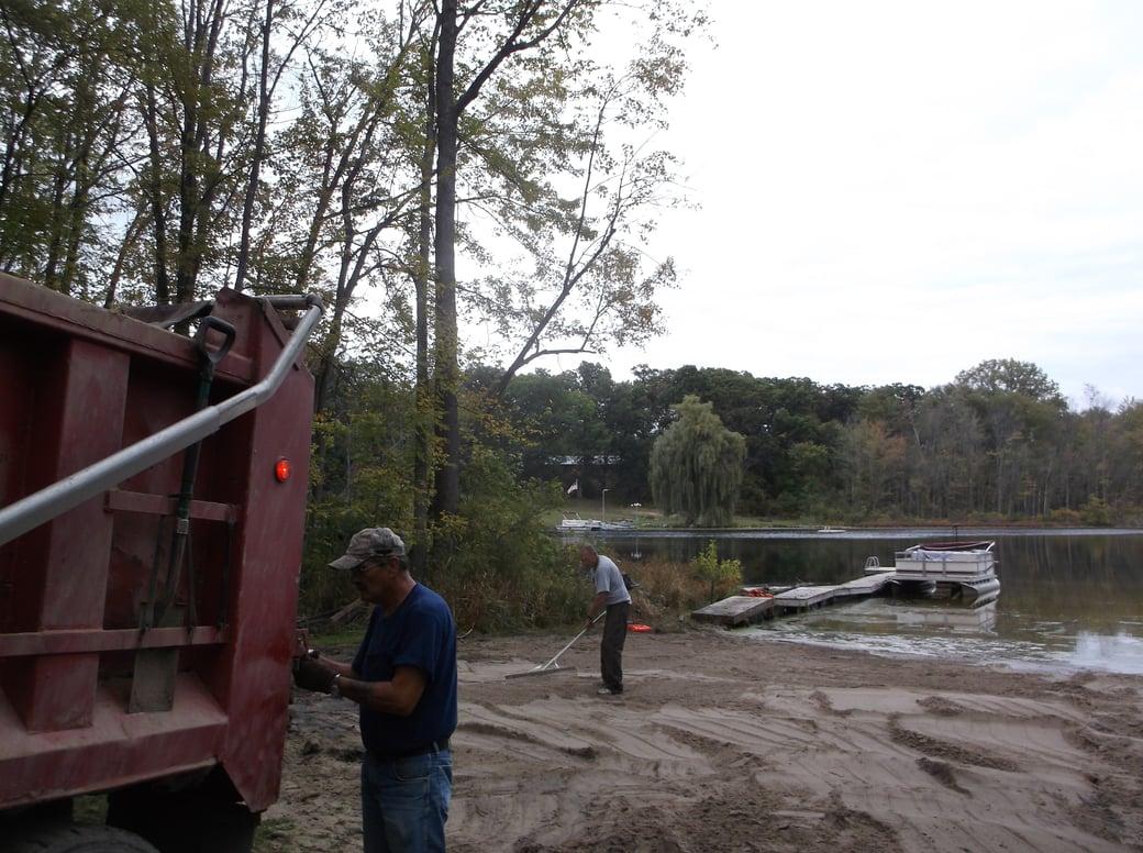 Dave lakefront dredge beach install Michigan (15)