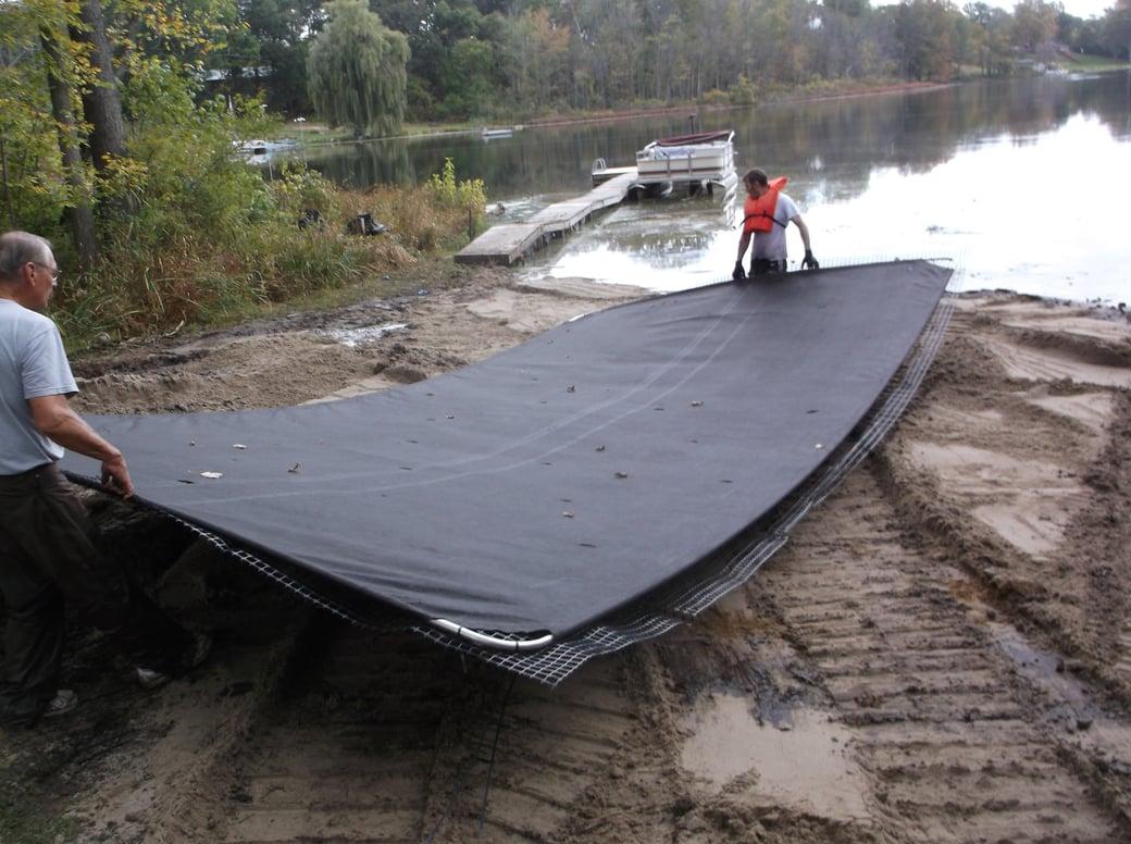 Dave lakefront dredge beach install Michigan (5)