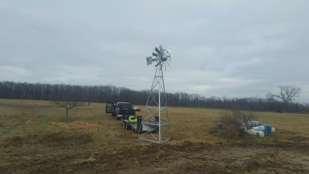 Fowlerville, MIchigan pond construction Michigan windmill (N) (20)
