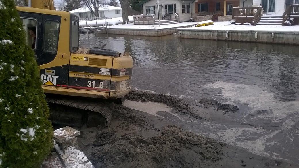 Houghton Lake, Michigan boat access dredging Michiagn  (94)