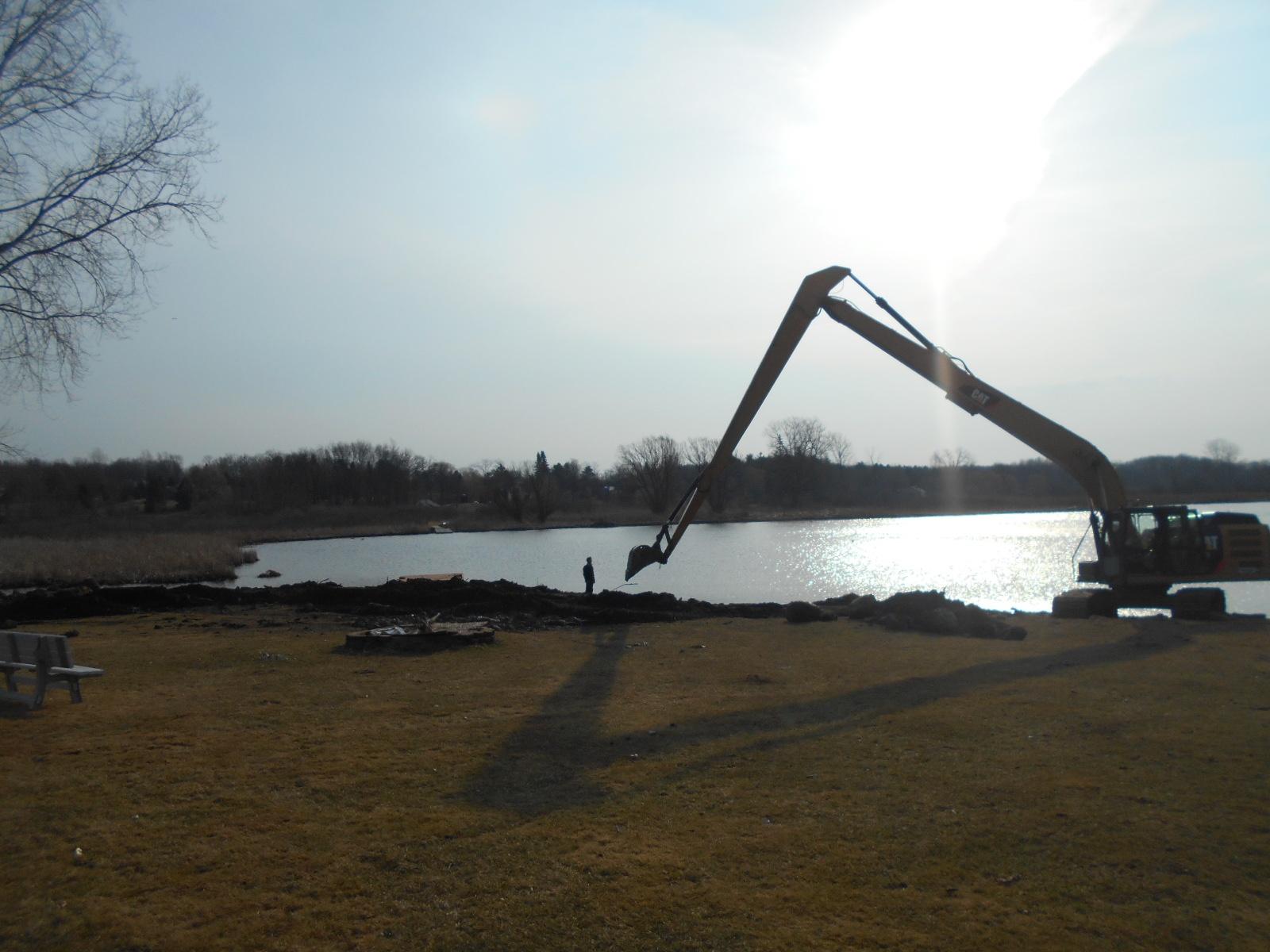 Howell, MI Lake front dredging Michigan (7).jpg