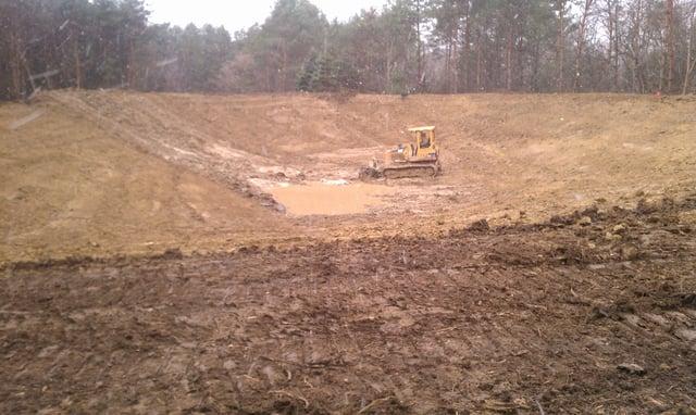 Dozer Used To Excavate Pond Michigan