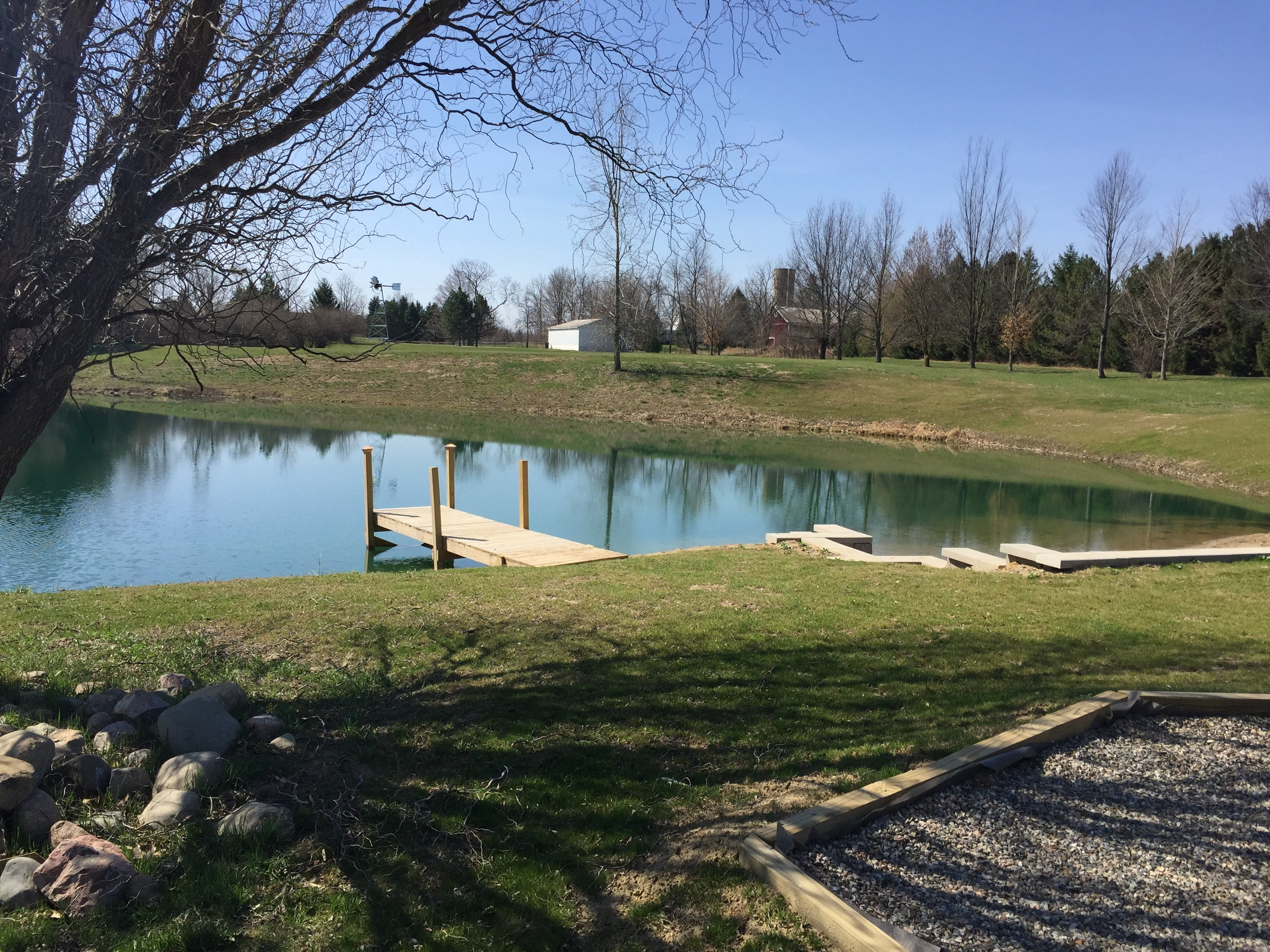 Howell michigan pond problems repaired windmill beach for Pond problems